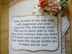 50th anniversary party ideas on a budget | 50th Wedding Anniversary Poem