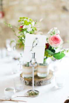 Table Numbers Stationery Beautiful Barn Bird Wedding http://www.melissabeattie.com/