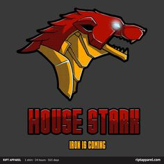 Iron Man Game Of Thrones House Stark