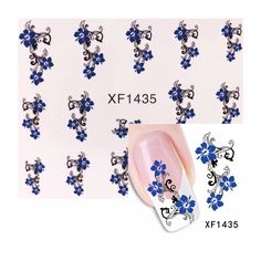 0.1$  Buy here - FWC 1 Sheet Flower Design Water Transfer Sticker Nail Art Decals Nails Wraps Temporary Tattoos Watermark Nail Tools   #magazineonlinewebsite