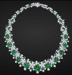 Emerald & Diamond Necklace by Graff #Necklaces #Jewelry #Graff