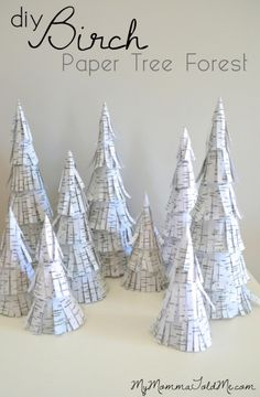 DIY Birch Paper Tree Forest TUTORIAL & FREE PRINTABLE