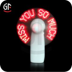 China Wholesale Unique Customized Words Led Promotion Light Fan  tina@chinaszshh.com