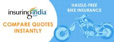 Compare Bike Insurance: http://goo.gl/4ibK4h   InsuringIndia is a comparison Portal to help you with evaluating your necessities and giving many options . On our site when you fill in basic details about your Bike, the InsuringIndia portal provide the best Bike Insurance options for you.