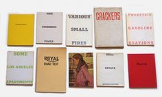 Collection of Ten Artists Books - Ed Ruscha Small Pools, Photo Book, Book Art, Books, Layouts, Identity, Artists, Type, Collection