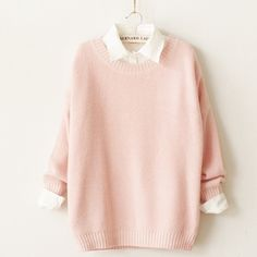 Cute Pastel Knit Sweater