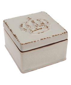 Look what I found on #zulily! White Crown Ceramic Box #zulilyfinds