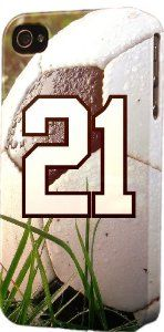 Its my soccer number... #21.... i want this case now... soccer iphone case 4/4s case