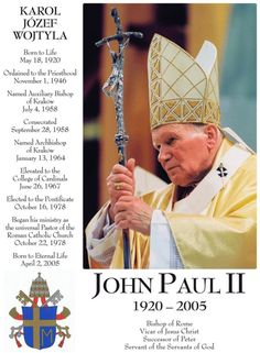 Saint of the Day – 22 October – St Pope John Paul II (1920-2005) Pope, Philosopher, Theologian, Writer, Preacher, Professor and Teacher, Apostle of the Holy Eucharist, Eucharistic Adoration, Charity and Mercy.   Patronages – Archdiocese of Kraków, World Youth Day (Co-Patron). World Meeting of Families 2015 (Co-Patron), Young Catholics, Families, Świdnica.   St John Paul was the second longest-serving pope in .......