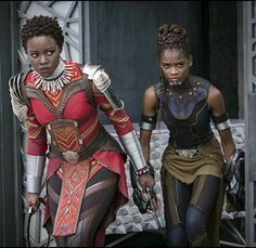 Nakia and Shuri, Black Panther (2018). my excitment cannot be contain.