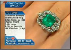 Estate emerald and diamond ring from our estate jewelry collection