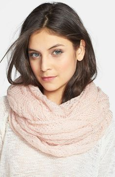BP. Pointelle Infinity Scarf (Juniors) available at #Nordstrom ivory instead of pink