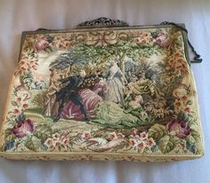 Antique Micro Petit Point Austrian French Purse Handbag Marcasite Silver Frame | eBay