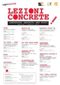 Segui le #LezioniConcrete in diretta su #Twitter!