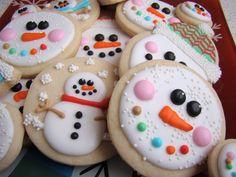 SweetBakedLove: Snowmen sugar cookies