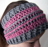 Stashbuster Ear Warmer (Use leftover yarns learn to change colors and change the sizing) free pattern EASY - Warmers - Ideas of Warmers All Free Crochet, Cute Crochet, Crochet For Kids, Knit Crochet, Crochet Hats, Crochet Children, Crochet Headbands, Crochet Scarves, Crotchet