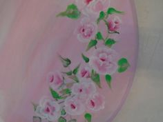Beautiful Hand Painted Pink Roses Shabby Chic by BeachNRoses