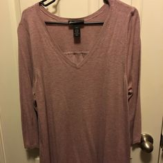 Rose Sweater with Pleated Back Rose knit sweater. Pleated back. Long sleeve. Worn twice. Lane Bryant Sweaters Crew & Scoop Necks