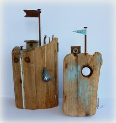 Www.sixtyonea.blogspot.com I have the piece of driftwood that has begged for this inspiration.  Happy, happy