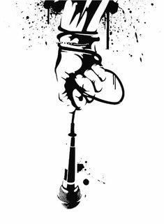 Hand with Mic Hip Hop Tattoo Hip Hop Tattoo, Mic Tattoo, Tattoo Musik, Microphone Tattoo, Tattoo Flash, Rib Tattoos Words, Quote Tattoos Girls, Hand Tattoos, Faith Tattoos