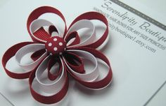 Red and White Polka Dot Flower