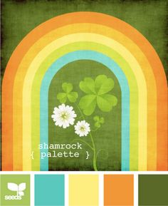 Get ready for St Patty's Day!  shamrock palette