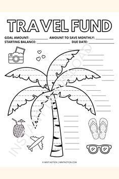 Travel savings tracker printable. Save up for your dream vacation with this cute savings tracker. Visual aid to motivate you to stick to your savings goals. Whether you want to go on a weekend adventure, a tropical cruise, or relax on a beautiful beach, this savings tracker can help you get there. Having a visual tracker is so helpful and it's a fun way to track your progress. Hang it up on your wall or fridge and watch your savings grow! Weekly Meal Plan Template, Monthly Budget Template, Savings Challenge, Money Challenge, Vacation Savings, Travel Fund, Sinking Funds, Life On A Budget, Paying Off Student Loans