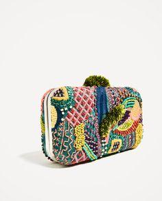 MULTI-COLORED FABRIC MINAUDIERE | vegan clutch | vegan purse