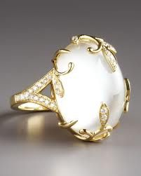 FREDERIC SAGE   Mother of Pearl & Diamond Ring   {ʝυℓιє'ѕ đιåмσиđѕ&ρєåɾℓѕ}