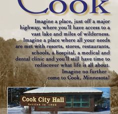 Cook MN - My sister lives on Lake Vermillion