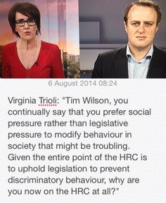 Tim Wilson. Freedom Commissioner, Human Rights Commission, Australia
