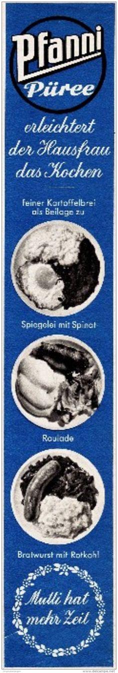 Original-Werbung/ Anzeige 1960 - PFANNI KNÖDEL - ca. 45 x 270 mm