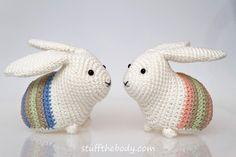 Easter Bunny Amigurumi Pattern Easter Crochet by StuffTheBody