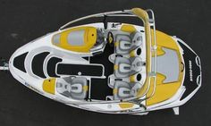 GRAPHIC REPLACEMENT KIT DECAL BOAT SPORTSTER SEA DOO SPEEDSTER 150 Red Original