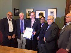 awesome Abinader recibe reconocimientos oficiales en Providence y New Jersey