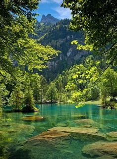 New Wonderful Photos: Blue Lake, Kandersteg, Switzerland