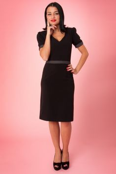 Red Juliet Couture - 40s Black Mary dress pin dots