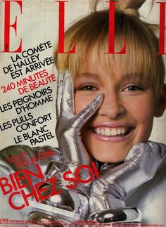 Estelle Lefebure - Elle France Dec 1985 by Bill King