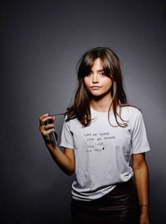 Jenna Coleman being beautiful.