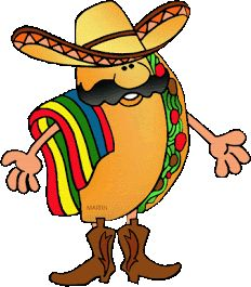 Free Mexico Clip Art By Phillip Martin Taco Taco Clipart, Food Clipart, Walking Tacos, Rose Cookies, Mexican Textiles, Fight Night, Classroom Decor, Tigger, Coloring Pages