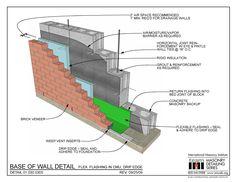 01.030.0305: Base of Wall Detail - Flex. Flashing in CMU, Drip Edge | International Masonry Institute