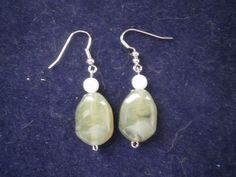 Earrings 012 Jade Pearl by AllMyEarrings on Etsy