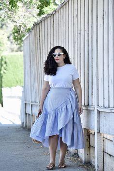 016de94e4bca8 The Only Skirt You Need this Summer. Curvy Fashion SummerCurvy Girl FashionAutumn  FashionSpring FashionCurvy OutfitsPlus Size ...