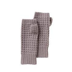 Knit Fingerless Glove - Light Heather Grey