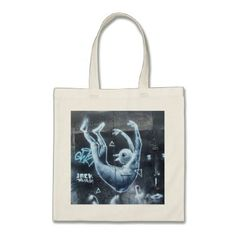 #Edgy tote bag with original Tel Aviv street art - #giftideas #teens #giftidea #gifts #gift #teengifts