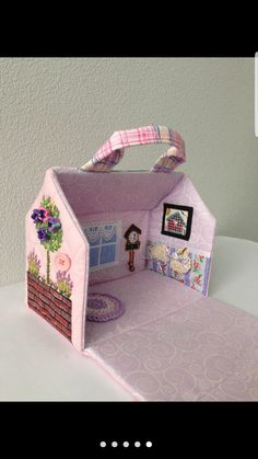 Image gallery – Page 83598136818050630 – Artofit Diy Dollhouse, Dollhouse Furniture, Fabric Dolls, Paper Dolls, Felt Doll House, Felt Quiet Books, Creation Couture, Mccalls Sewing Patterns, Fabric Houses