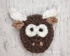 Y is for Yak: Crochet Yak Applique - Repeat Crafter Me