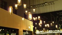 """This Mason Jar Lighting idea has been swirling in my head for weeks, time to find a """"junky"""" thrift store!"""