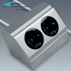 Enchufes IL 400 Enchufes Energy Box 90º Compuesto Por Dos Enchufes. Color  Aluminio.