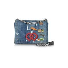 DSquared2 Handbags DD Distressed Denim Shoulder Bag (€1.000) ❤ liked on Polyvore featuring bags, handbags, shoulder bags, denim, blue shoulder bag, flap purse, flap handbags, man shoulder bag and dsquared2